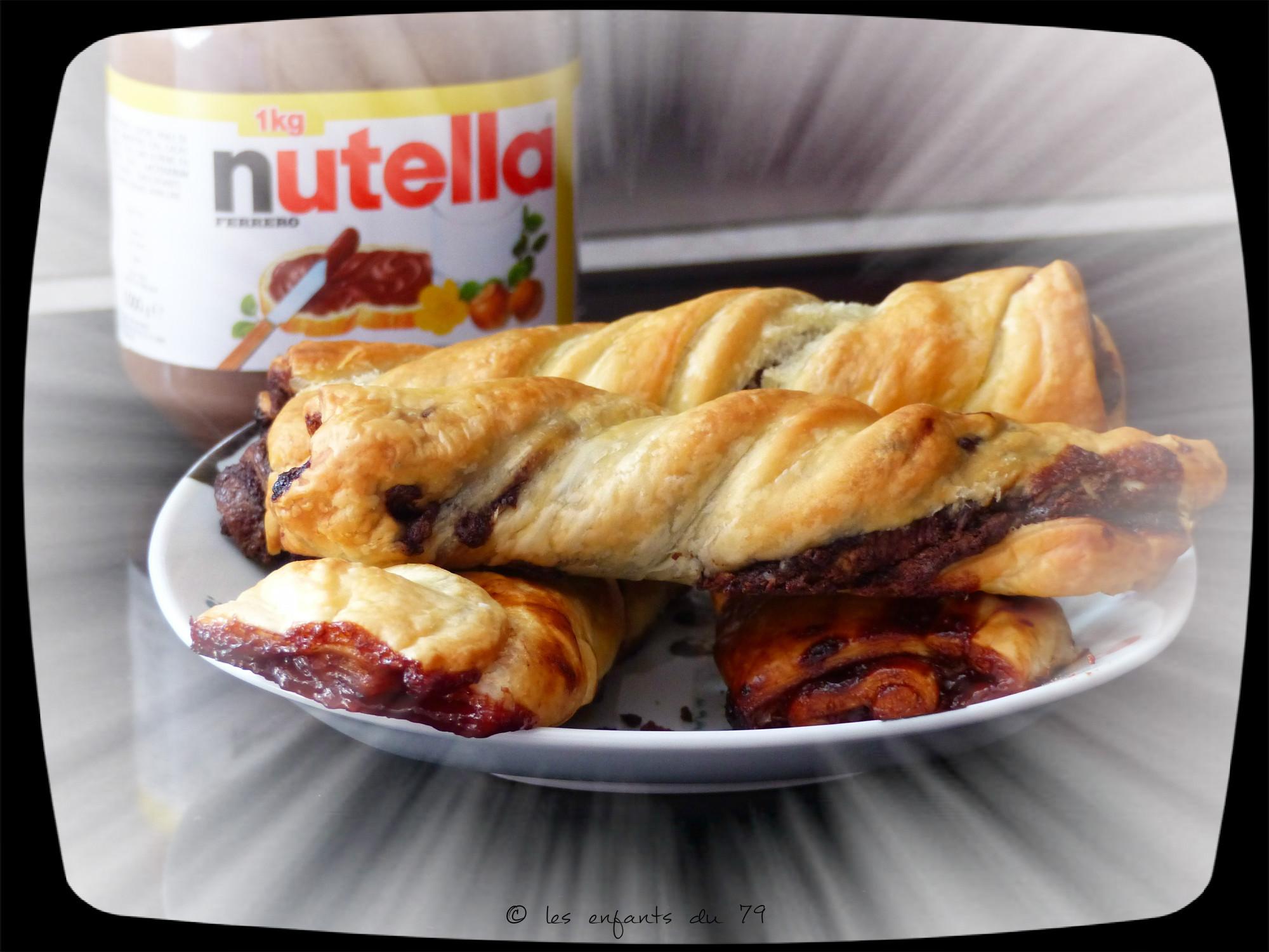 Torsades au nutella ou la confiture recette simple et rapide lesenfantsdu79 - Recettes rapides 10 a 15 minutes maxi ...